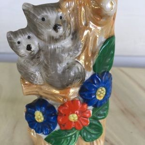 Vintage Small Vase Made in Japan Mama & Baby bear